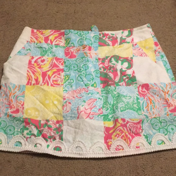 Lilly Pulitzer Dresses & Skirts - Lilly Pulitzer Patchwork Skort 2 GUC